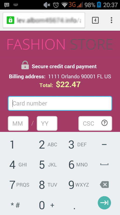 X-Payments interface, screen 5