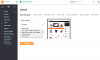 Manage X-Cart layout in the admin area: select another color scheme or set a different number of columns