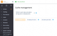 cache management inX-Cart 5: quickData vs ReDeploy the store