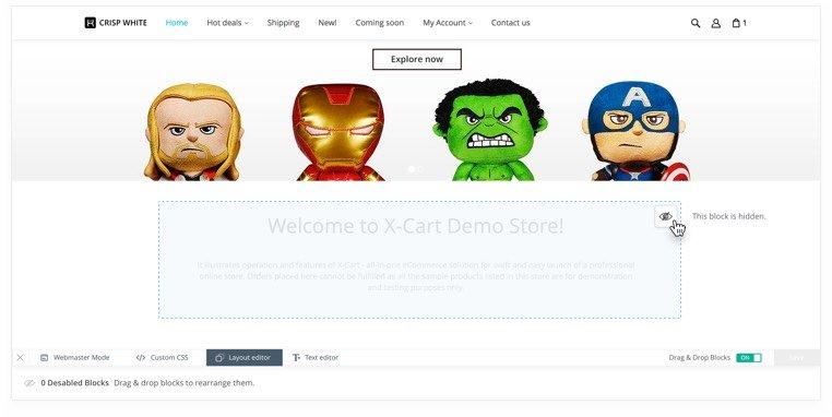 Customizable Online Store Design