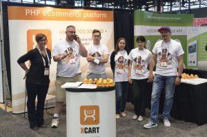 X-Cart booth at IRCE