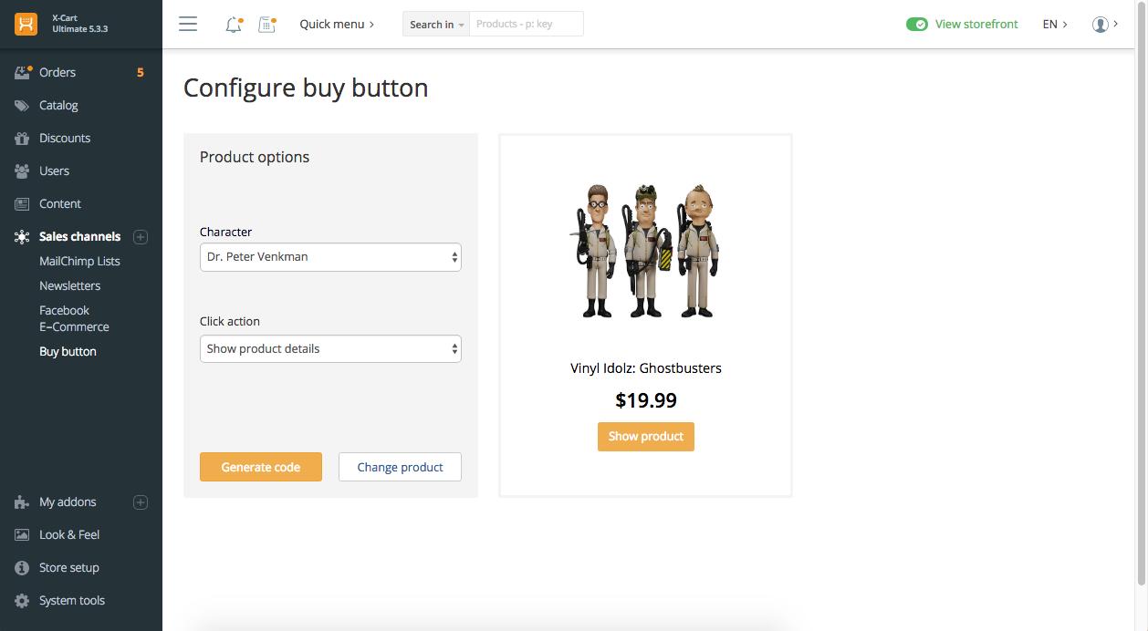 Configure Buy Button