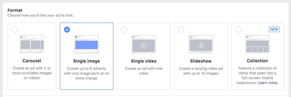 Choosing an ad format