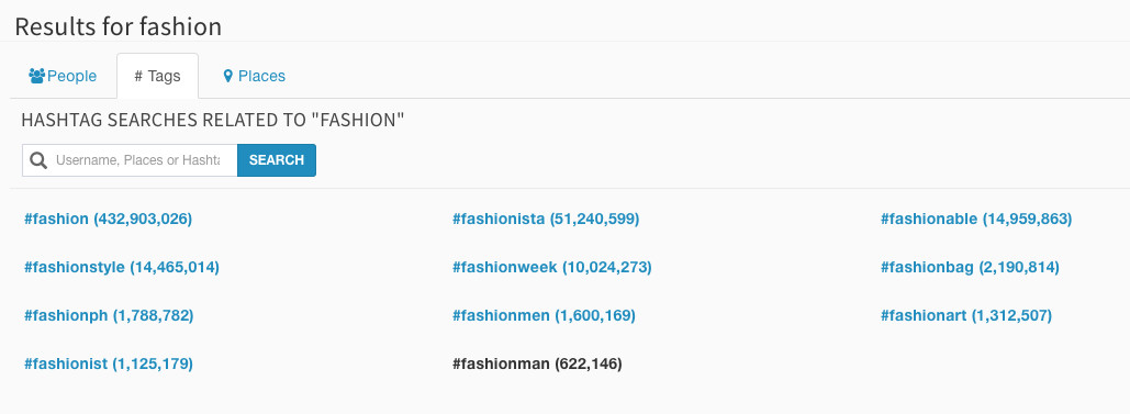 Hashtag searches related to Fashion